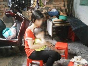 Hình ảnh bé L. với thân hình bé nhỏ, gầy guộc đã phải mang cái thai 7 tuần