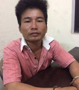 Đối tượng Nguyễn Doãn Lan tại cơ quan công an