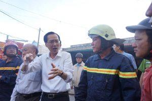 Ngay sau khi sự việc xảy ra, cơ quan chức năng, Đại tá Lê Tấn Bửu, Giám đốc Sở CSPCCC có mặt tại hiện trường chỉ đạo công tác dập lửa