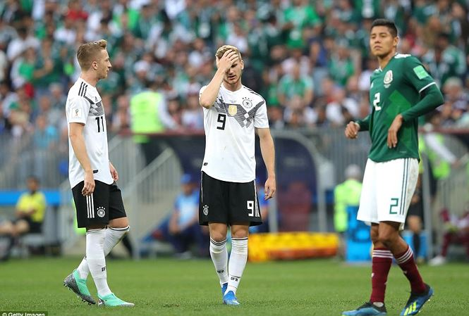 Đội tuyển Đức thua trận ngay ngày đầu ra quân