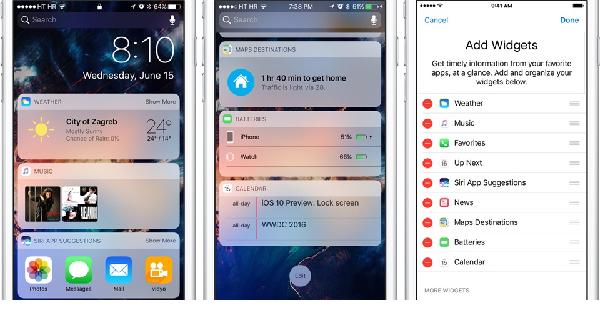 Tắt các widget không cần thiết trên iphone của bạn