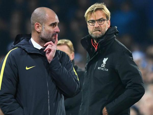 Klopp được Pep an ủi sau khi Man City nắm lợi thế để vô địch