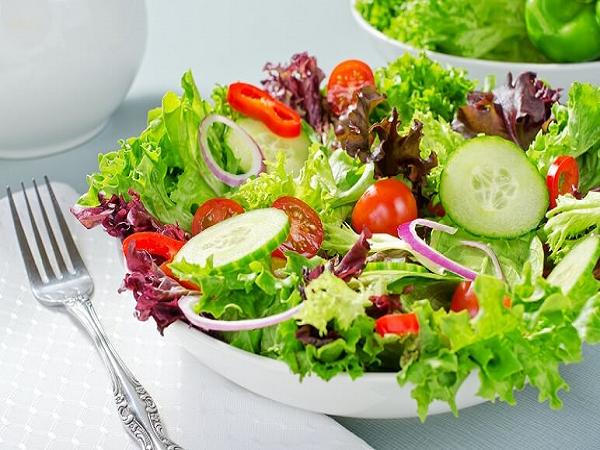 Bổ sung salad rau xanh - cách ăn uống thanh lọc cơ thể