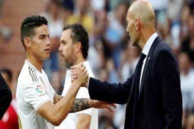 James Rodriguez thuyết phục được Zinedine Zidane