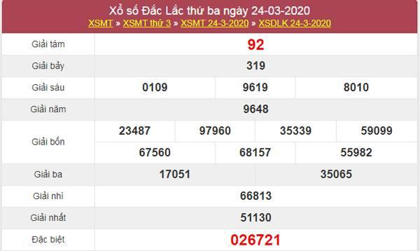 Dự đoán XSDLK 31/3/2020 - Dự đoán KQXS ĐăkLắc thứ 3