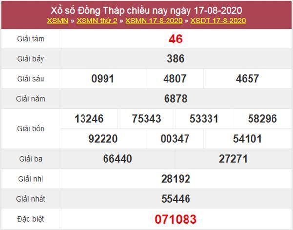 Thống kê XSDT 24/8/2020 chốt lô Đồng Tháp cùng chuyên gia