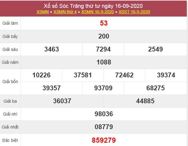 Soi cầu XSST 23/9/2020 chốt số Sóc Trăng thứ 4 cực chuẩn