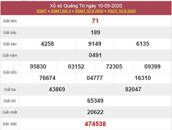 Thống kê XSQT 17/9/2020 chốt KQXS Quảng Trị thứ 5