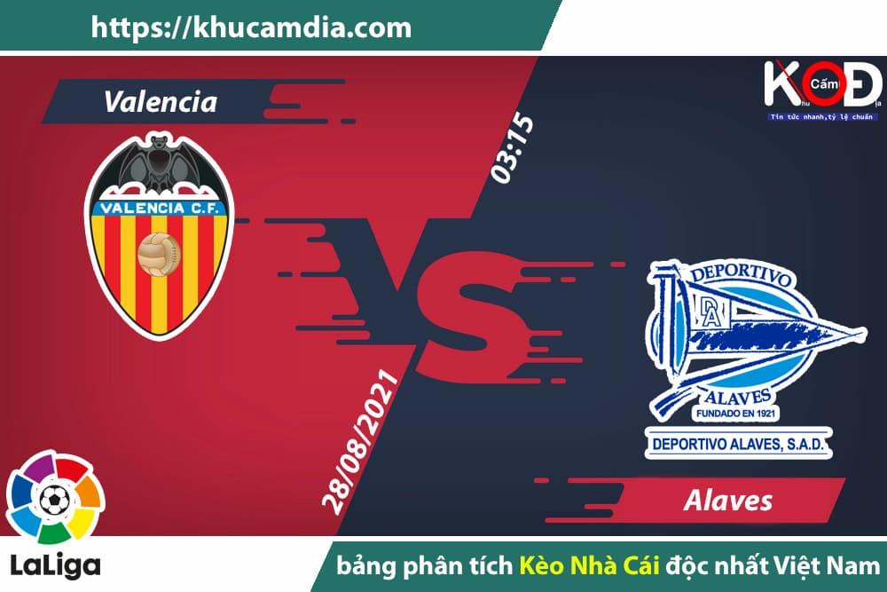 Soi kèo Valencia vs Alaves, 3h15 ngày 28/8