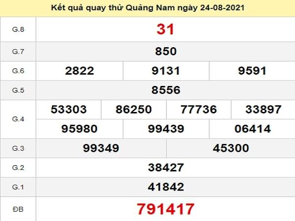 Quay thử Quảng Nam ngày 24/8/2021 thứ 3